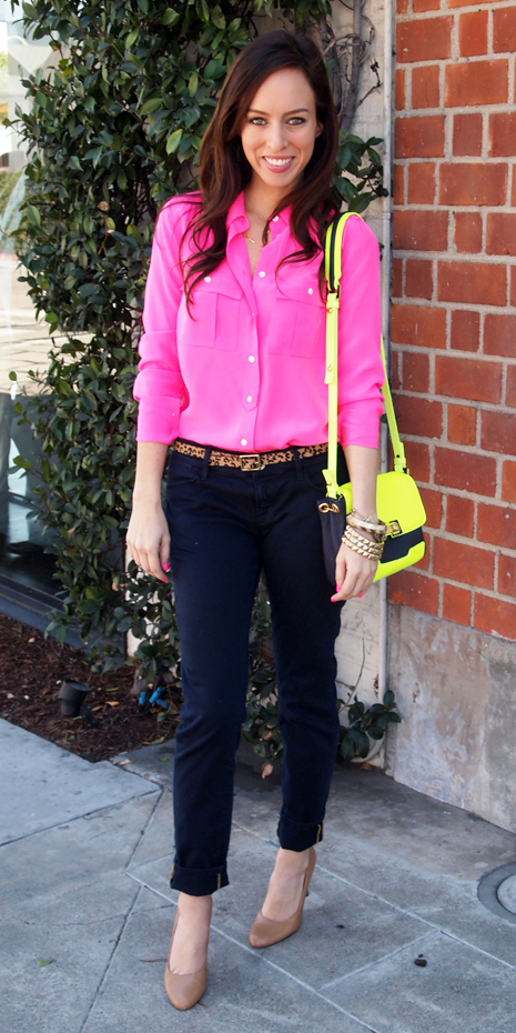 blue-navy-skinny-jeans-pink-magenta-collared-shirt-yellow-bag-neon-belt-tan-shoe-pumps-spring-summer-brun-lunch.jpg