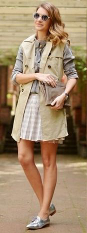 white-mini-skirt-tan-vest-utility-blue-light-collared-shirt-hairr-sun-gray-shoe-brogues-silver-metallic-spring-summer-lunch.jpg