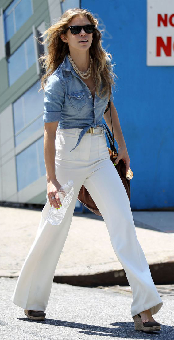 white-flare-jeans-blue-light-collared-shirt-chambray-necklace-spring-summer-annalynnemccord-blonde-lunch.jpg