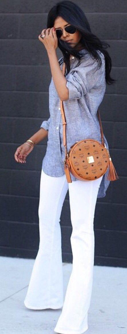 white-flare-jeans-blue-light-collared-shirt-cognac-bag-sun-spring-summer-brun-lunch.jpg