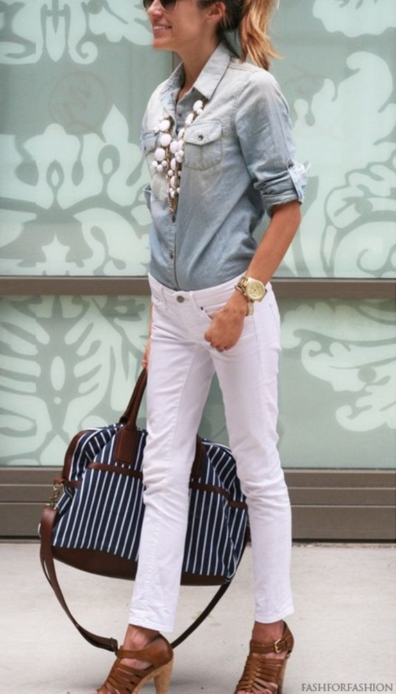 white-skinny-jeans-blue-light-collared-shirt-necklace-cognac-shoe-sandalh-sun-pony-watch-travelbag-howtowear-fashion-style-outfit-spring-summer-hairr-lunch.jpg