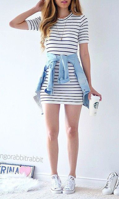 white-dress-tshirt-stripe-blue-light-collared-shirt-white-shoe-sneakers-necklace-howtowear-fashion-style-outfit-spring-summer-hairr-weekend.jpg