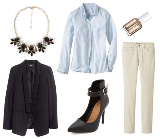 white-skinny-jeans-blue-light-collared-shirt-black-jacket-blazer-black-shoe-pumps-nail-howtowear-fashion-style-outfit-fall-winter-corduroy-bib-necklace-work.jpg