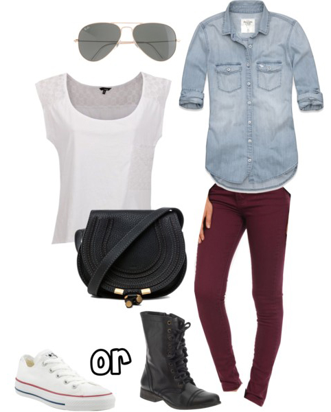 r-burgundy-skinny-jeans-white-tee-blue-light-collared-shirt-black-bag-white-shoe-sneakers-black-shoe-booties-sun-howtowear-fashion-style-outfit-spring-summer-weekend.jpg