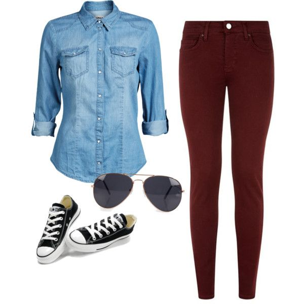 r-burgundy-skinny-jeans-blue-light-collared-shirt-black-shoe-sneakers-sun-howtowear-fashion-style-outfit-spring-summer-weekend.jpg
