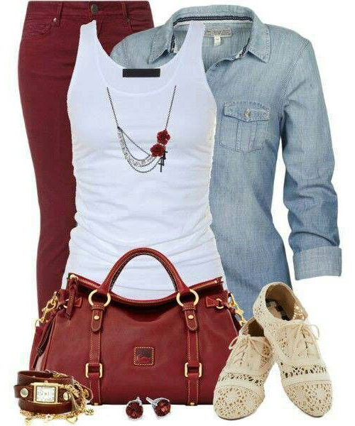 r-burgundy-skinny-jeans-white-tank-blue-light-collared-shirt-red-bag-white-shoe-brogues-studs-necklace-howtowear-fashion-style-outfit-spring-summer-weekend.jpg
