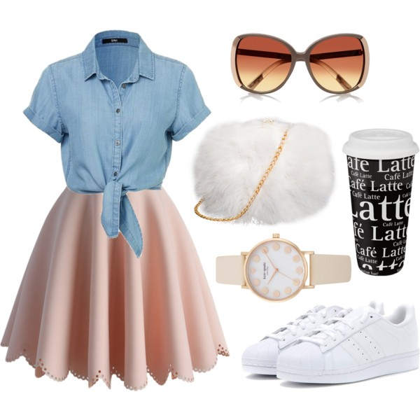 peach-mini-skirt-blue-light-collared-shirt-white-shoe-sneakers-watch-white-bag-sun-spring-summer-lunch.jpg