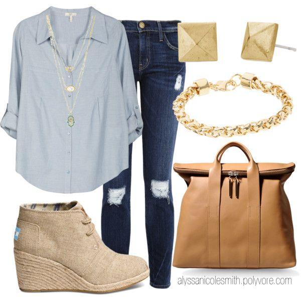 blue-navy-skinny-jeans-blue-light-collared-shirt-tan-bag-studs-tan-shoe-booties-fall-winter-weekend.jpg