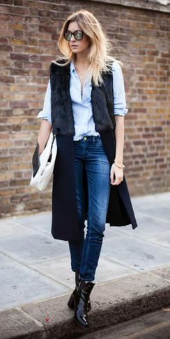blue-med-skinny-jeans-blue-light-collared-shirt-sun-blonde-black-vest-tailor-black-shoe-booties-white-bag-fall-winter-lunch.jpg