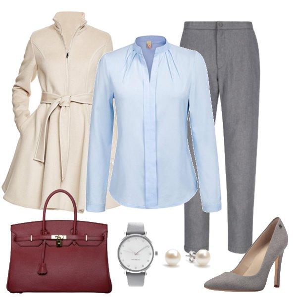 how-to-style-grayl-slim-pants-blue-light-collared-shirt-gray-shoe-pumps-pearl-studs-watch-burgundy-bag-white-jacket-coat-fall-winter-fashion-work.jpg