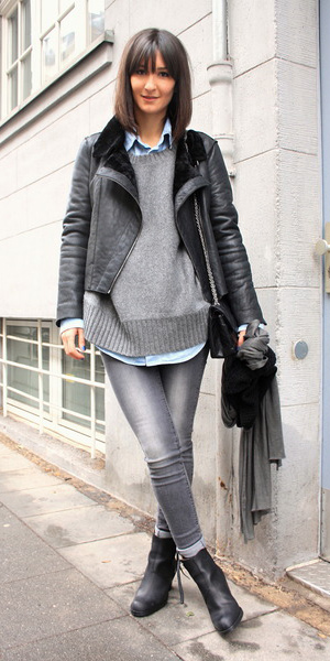 grayl-skinny-jeans-grayl-sweater-blue-light-collared-shirt-black-shoe-booties-black-bag-black-jacket-moto-fall-winter-brun-lunch.jpg
