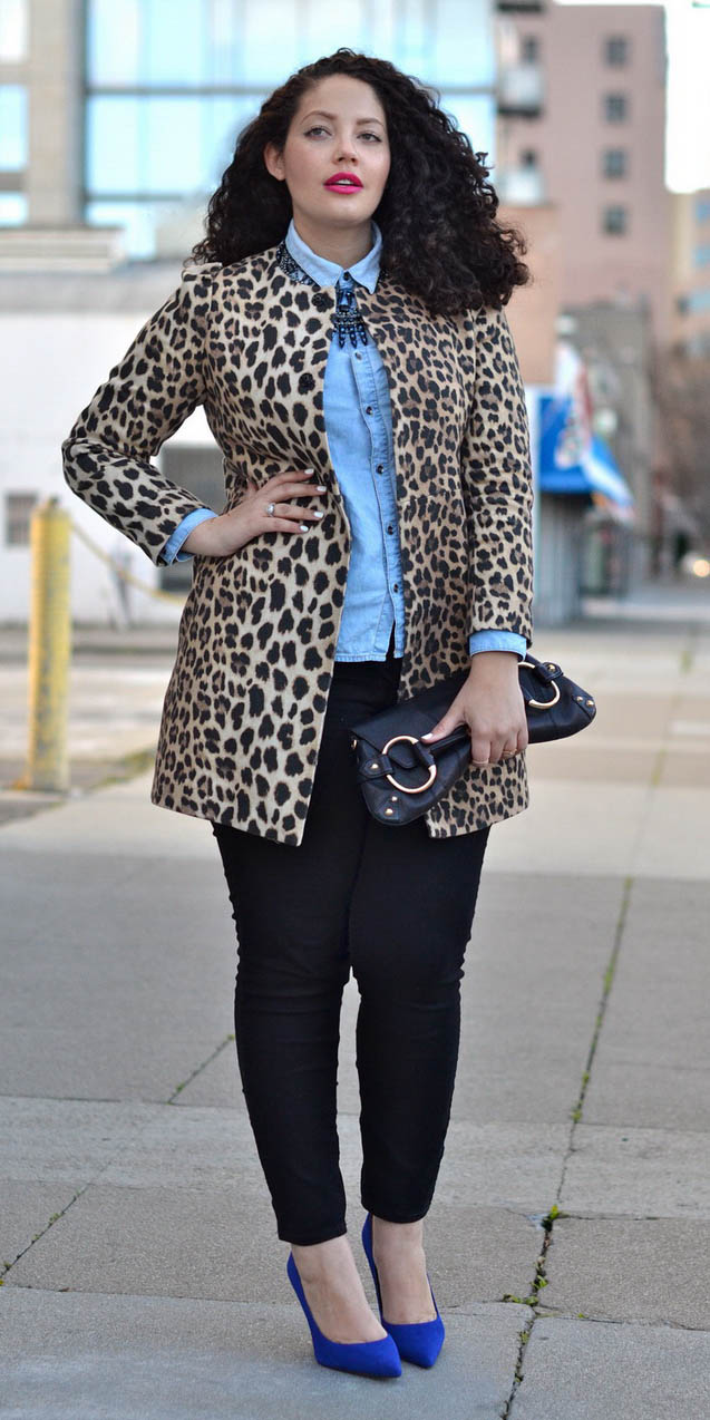 black-skinny-jeans-blue-shoe-pumps-blue-light-collared-shirt-bib-necklace-leopard-print-tan-jacket-coat-fall-winter-brun-lunch.jpg