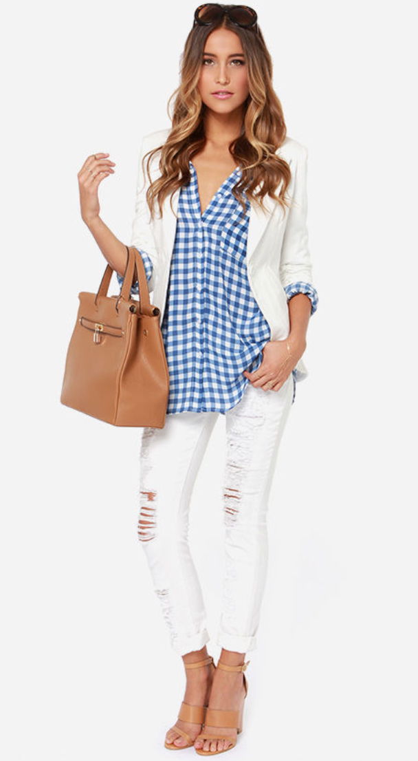 white-skinny-jeans-blue-med-collared-shirt-white-jacket-blazer-gingham-tan-bag-tan-shoe-sandalh-howtowear-fashion-style-outfit-hairr-spring-summer-lunch.jpg