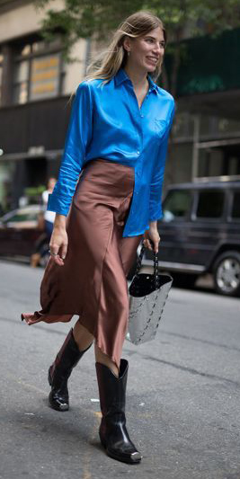 how-to-style-camel-midi-skirt-silk-blue-med-collared-shirt-blonde-black-shoe-boots-fall-winter-fashion-lunch.jpg