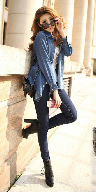 blue-navy-skinny-jeans-white-tank-blue-med-collared-shirt-black-shoe-booties-hairr-fall-winter-weekend.jpg