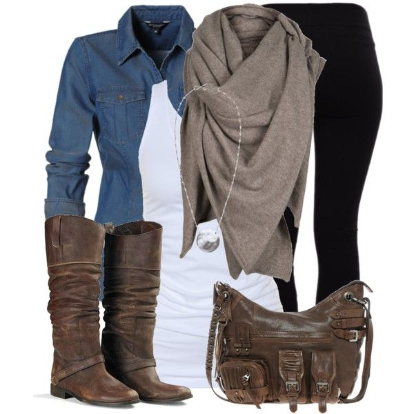 black-skinny-jeans-white-tank-blue-med-collared-shirt-tan-scarf-necklace-brown-shoe-boots-brown-bag-howtowear-fashion-style-outfit-fall-winter-weekend.jpg