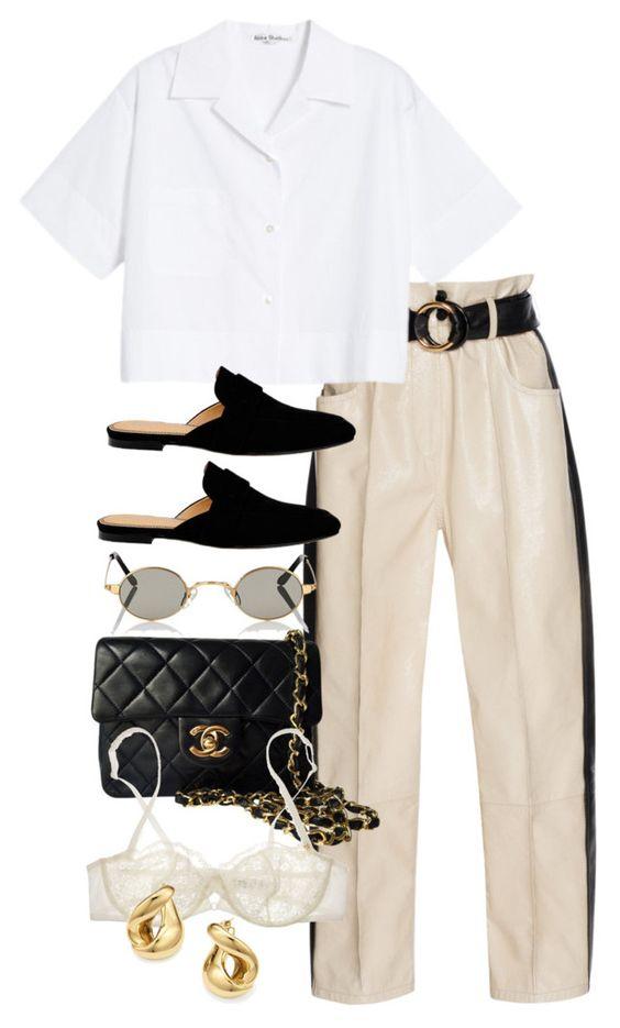 white-joggers-pants-belt-white-collared-shirt-black-shoe-loafers-slides-black-bag-sun-studs-spring-summer-lunch.jpg