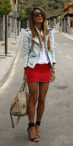 red-mini-skirt-white-collared-shirt-blue-light-jacket-moto-black-shoe-sandalh-sun-spring-summer-hairr-lunch.jpg
