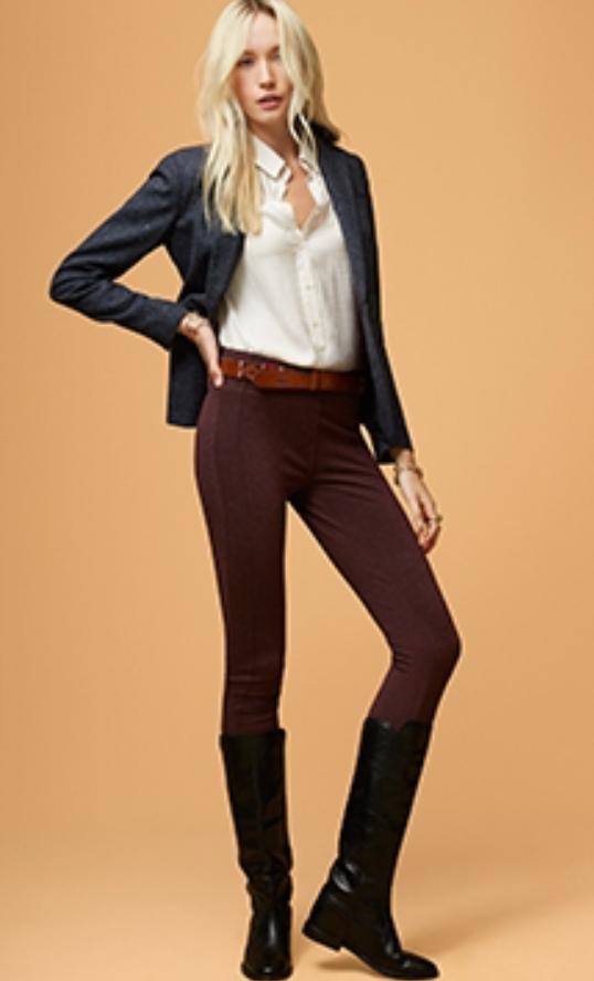 r-burgundy-slim-pants-white-collared-shirt-howtowear-grayd-jacket-blazer-belt-black-shoe-boots-loft-fall-winter-blonde-lunch.jpg