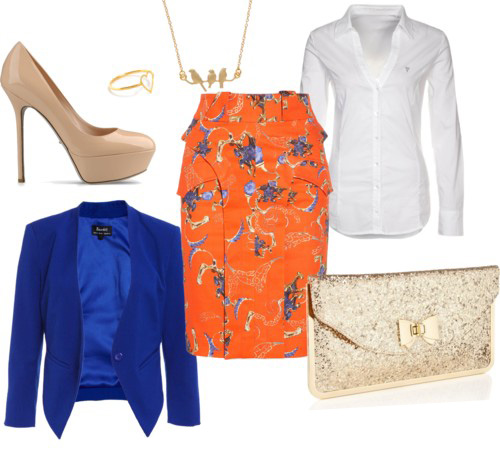 orange-pencil-skirt-white-collared-shirt-blue-cobalt-jacket-blazer-print-howtowear-fashion-style-outfit-spring-summer-crop-print-tan-shoe-pumps-necklace-tan-bag-clutch-casualfriday-work.jpg