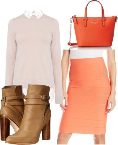 orange-pencil-skirt-tan-sweater-white-collared-shirt-tan-shoe-booties-orange-bag-tonal-fall-winter-work.jpg