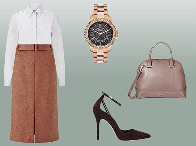 camel-pencil-skirt-white-collared-shirt-watch-brown-shoe-pumps-tan-bag-fall-winter-work.jpg