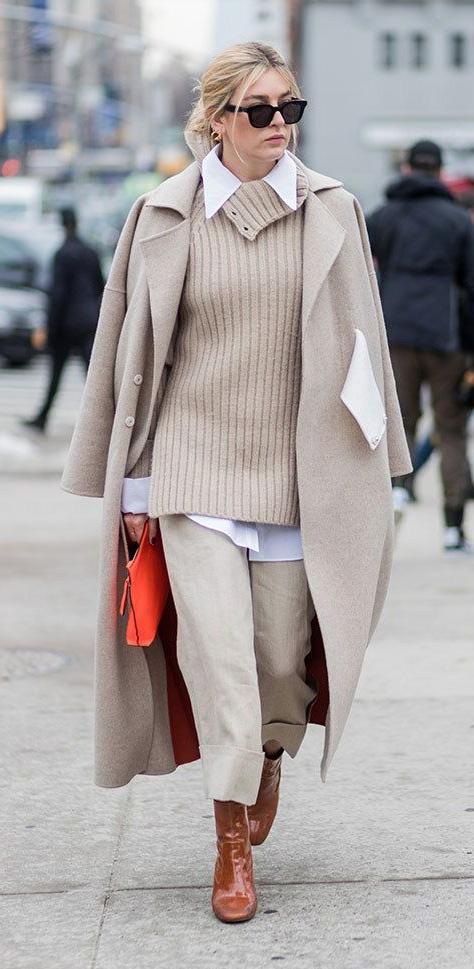 tan-culottes-pants-tan-sweater-tan-jacket-coat-layer-cognac-shoe-booties-bun-white-collared-shirt-fall-winter-blonde-lunch.jpg