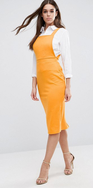 yellow-dress-jumper-white-collared-shirt-brun-tan-shoe-sandalh-layer-spring-summer-work.jpg