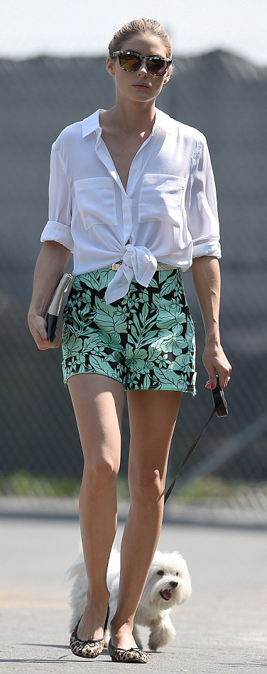 green-light-shorts-white-collared-shirt-sun-bun-tan-bag-clutch-print-tan-shoe-flats-leopard-oliviapalermo-howtowear-fashion-style-outfit-spring-summer-hairr-lunch.jpg