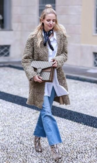 blue-light-crop-jeans-white-collared-shirt-layer-blue-navy-scarf-neck-blonde-tan-jacket-coat-tan-bag-tan-shoe-booties-snakeskin-fall-winter-lunch.jpg