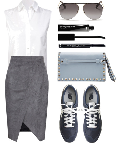 grayd-pencil-skirt-white-collared-shirt-blue-shoe-sneakers-sun-blue-bag-clutch-spring-summer-weekend.jpg