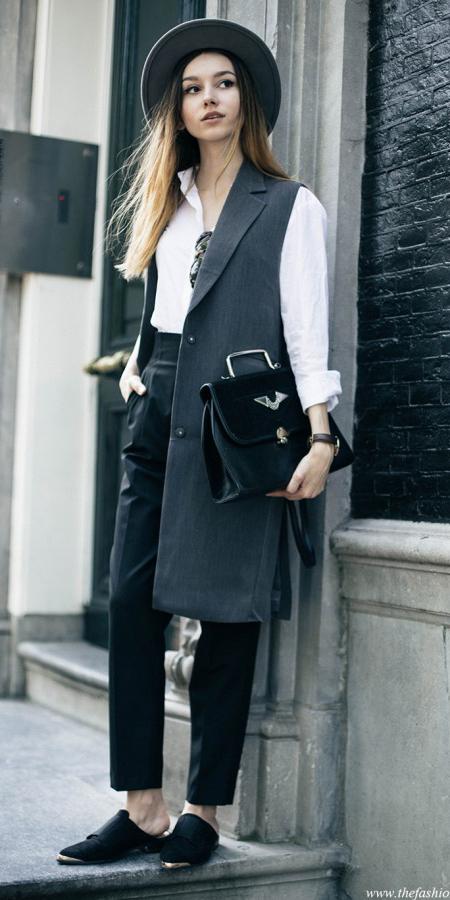 black-joggers-pants-white-collared-shirt-hat-hairr-black-bag-black-shoe-brogues-grayd-vest-tailor-fall-winter-lunch.jpg
