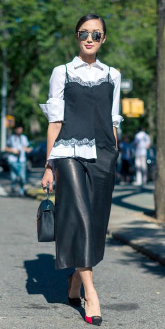 black-midi-skirt-leather-layer-white-collared-shirt-black-bag-sun-bun-lace-black-cami-fall-winter-brun-work.jpg