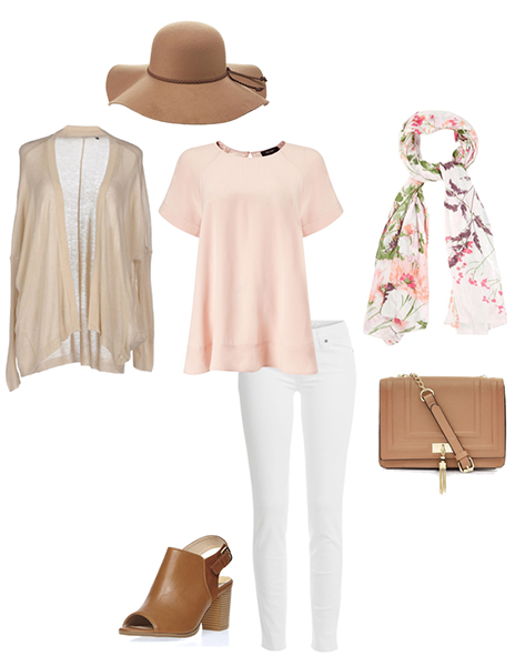 white-skinny-jeans-o-peach-tee-pink-light-scarf-floral-hat-tan-cardiganl-cognac-bag-cognac-shoe-sandalh-howtowear-fashion-style-outfit-spring-summer-lunch.jpg