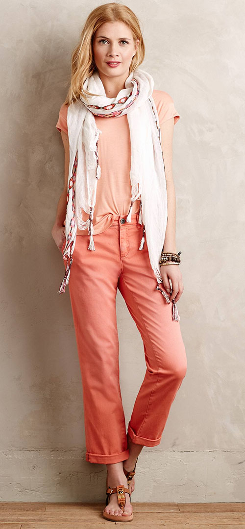orange-chino-pants-o-peach-tee-white-scarf-cognac-shoe-sandals-spring-summer-style-fashion-wear-anthropologie-blonde-weekend.jpeg