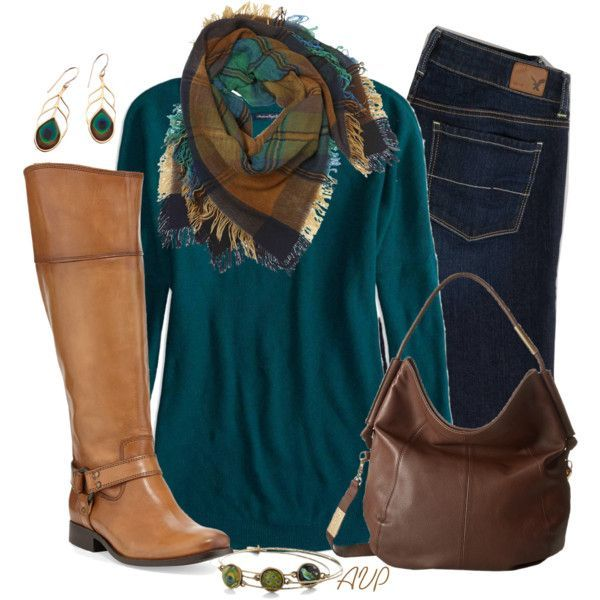 blue-navy-skinny-jeans-blue-med-tee-teal-camel-scarf-print-tan-shoe-boots-earrings-brown-bag-hobo-howtowear-fashion-style-outfit-fall-winter-weekend.jpg