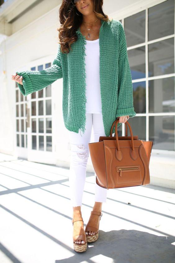 white-skinny-jeans-white-tee-cognac-bag-tote-hairr-cognac-shoe-sandalw-green-emerald-cardiganl-spring-summer-weekend.jpg