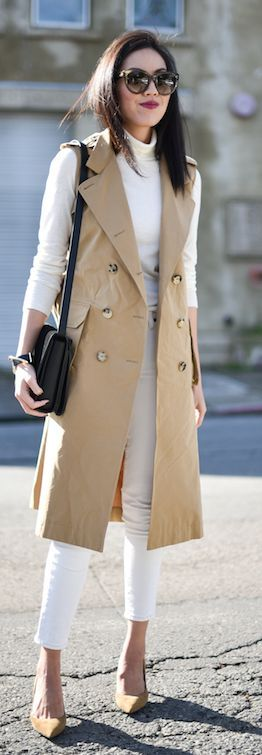 white-skinny-jeans-white-tee-turtleneck-brun-sun-tan-shoe-pumps-black-bag-trench-spring-summer-work.jpg