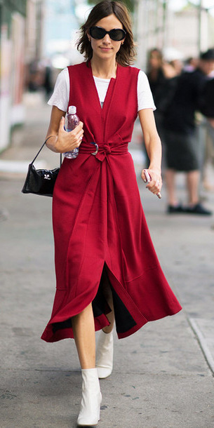 red-dress-wrap-midi-white-tee-layer-black-bag-hairr-white-shoe-booties-spring-summer-lunch.jpg