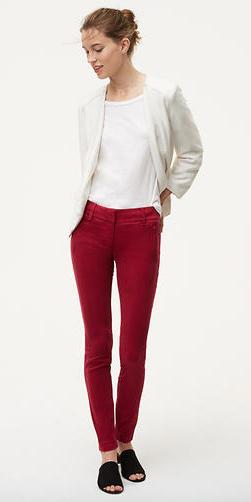 red-chino-pants-white-tee-white-jacket-blazer-bun-fall-winter-hairr-lunch.jpg