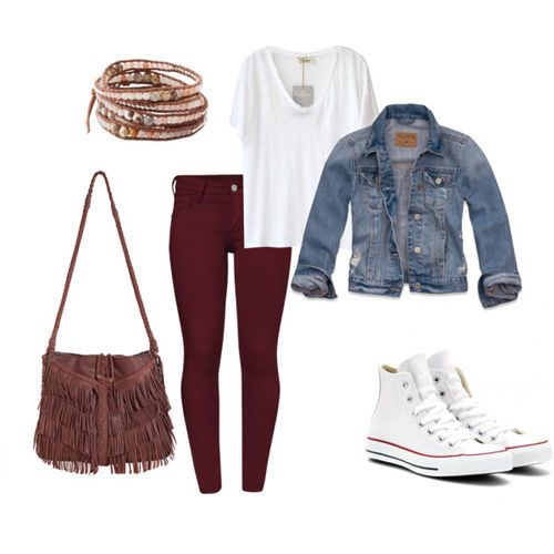 r-burgundy-skinny-jeans-white-tee-blue-med-jacket-jean-brown-bag-white-shoe-sneakers-bracelet-howtowear-fashion-style-outfit-spring-summer-weekend.jpg
