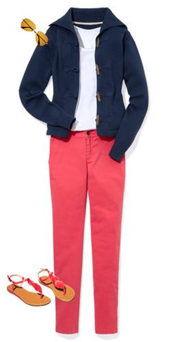 r-pink-magenta-chino-pants-white-tee-blue-navy-cardigan-pink-shoe-sandals-sun-spring-summer-weekend.jpg