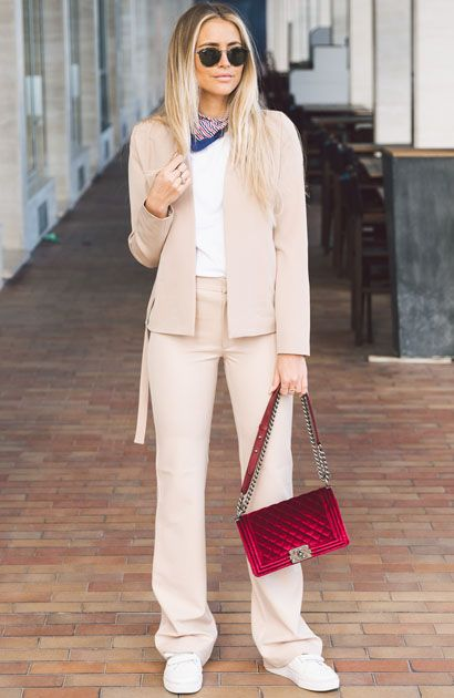 pink-light-wideleg-pants-red-bag-white-tee-blue-navy-scarf-neck-blonde-sun-suit-pink-light-jacket-blazer-white-shoe-sneakers-fall-winter-lunch.jpg