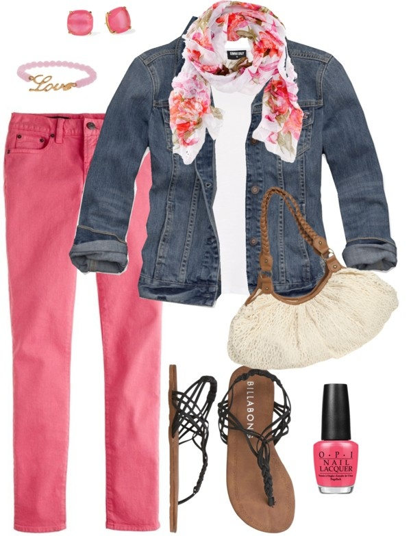 r-pink-magenta-skinny-jeans-white-tee-blue-med-jacket-jean-pink-magenta-scarf-floral-studs-nail-black-shoe-sandals-howtowear-fashion-style-outfit-spring-summer-weekend.jpg