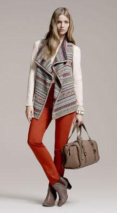 orange-skinny-jeans-tan-shoe-booties-knit-vest-blonde-white-tee-tan-bag-fall-winter-lunch.jpg