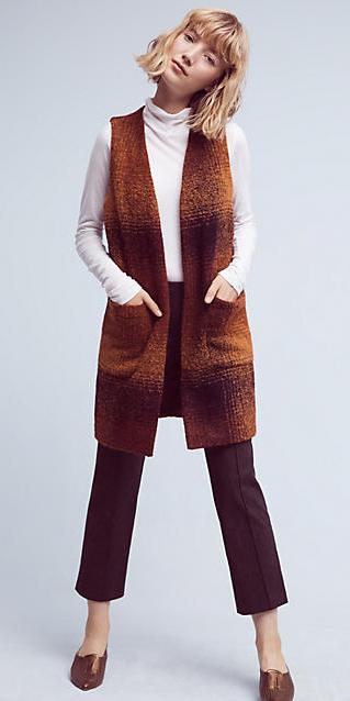 brown-slim-pants-white-tee-turtleneck-camel-vest-knit-tan-shoe-slides-howtowear-fall-winter-blonde-lunch.jpg