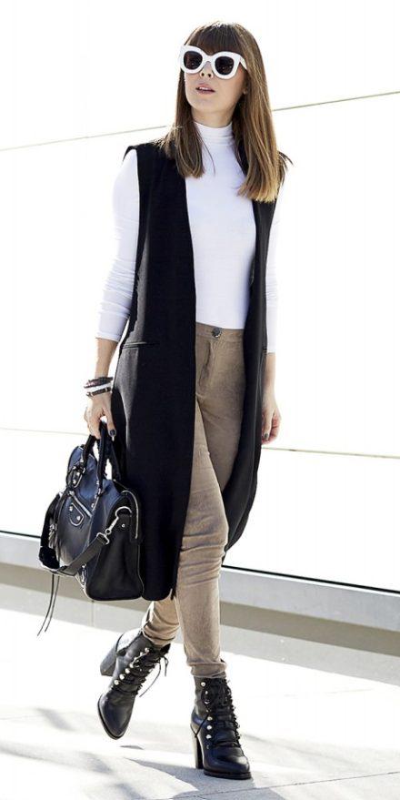 tan-leggings-white-tee-turtleneck-hairr-sun-black-bag-black-shoe-booties-black-vest-tailor-fall-winter-lunch.jpg