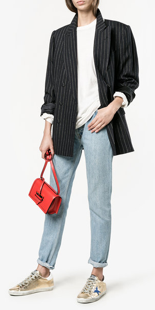 blue-light-skinny-jeans-tan-shoe-sneakers-gold-metallic-red-bag-white-tee-black-jacket-blazer-fall-winter-weekend.jpg