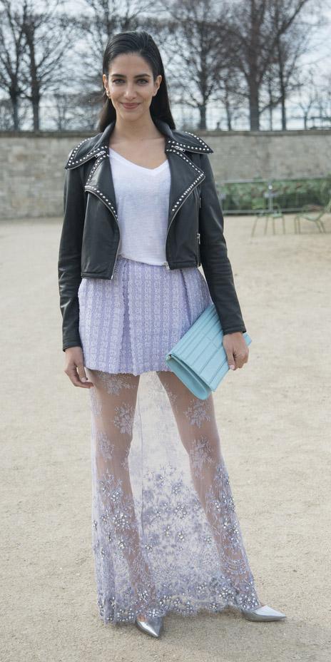 purple-light-maxi-skirt-sheer-white-tee-blue-bag-clutch-black-jacket-moto-spring-summer-brun-dinner.jpg