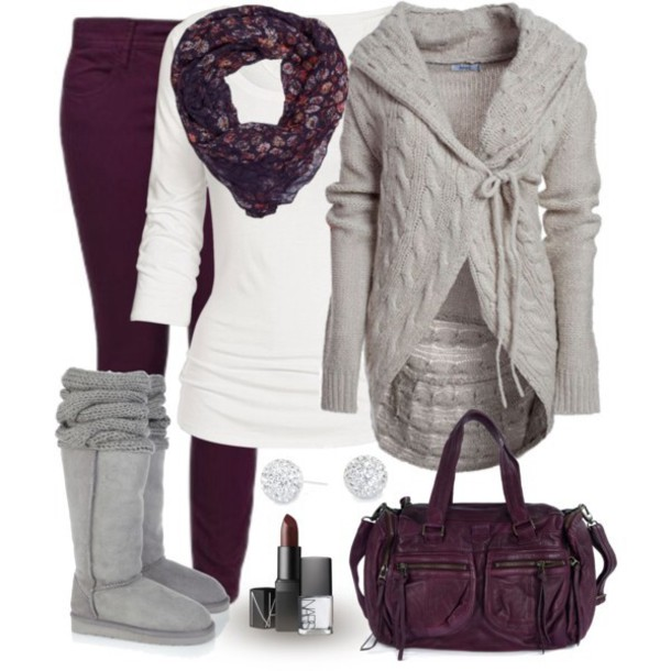 purple-royal-skinny-jeans-white-tee-purple-royal-scarf-grayl-cardiganl-gray-shoe-boots-purple-bag-studs-howtowear-fall-winter-fashion-style-outfit-weekend.jpg